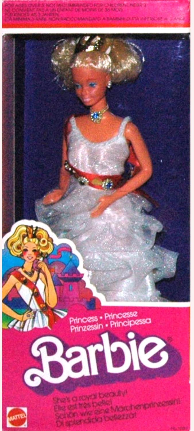 Vestito da principessa rosso per bambole barbie e similari